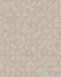 Gallerie Cream Geometric Wood Wallpaper by