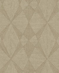 Intrinsic Light Brown Geometric Wood Wallpaper by