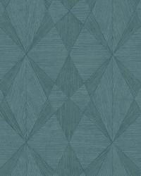 Intrinsic Teal Geometric Wood Wallpaper by