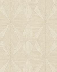 Intrinsic Cream Geometric Wood Wallpaper by