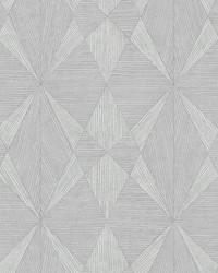 Intrinsic Silver Geometric Wood Wallpaper by