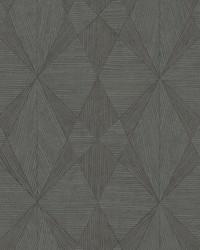Intrinsic Dark Grey Geometric Wood Wallpaper by