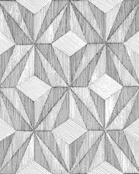 Paragon Black Geometric Wallpaper by
