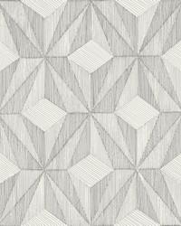 Paragon Silver Geometric Wallpaper by