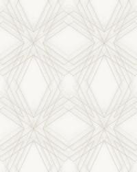 Relativity Off-White Geometric Wallpaper by