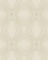 Relativity Beige Geometric Wallpaper by