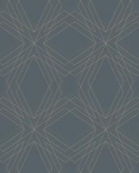 Relativity Charcoal Geometric Wallpaper by