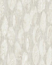 Monolith Silver Abstract Wood Wallpaper by