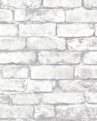 Debs White Exposed Brick Wallpaper by