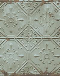 Donahue Turquoise Tin Ceiling Wallpaper by