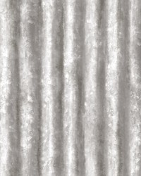 Kirkland Silver Corrugated Metal Wallpaper by