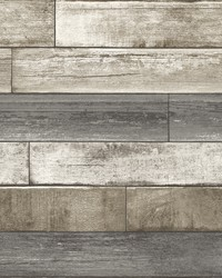 Porter Brown Weathered Plank Wallpaper by
