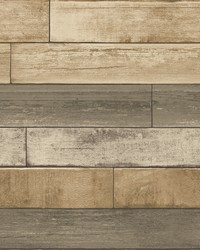 Porter Wheat Weathered Plank Wallpaper by