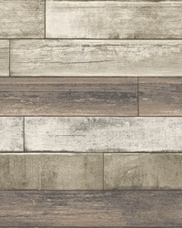 Porter Coffee Weathered Plank Wallpaper by