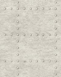 Goldberg Ivory Hammered Metal Wallpaper by