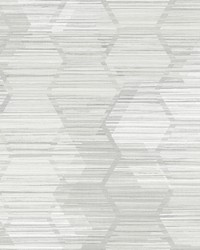 Jabari Light Grey Geometric Faux Grasscloth Wallpaper by