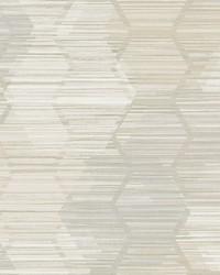 Jabari Beige Geometric Faux Grasscloth Wallpaper by
