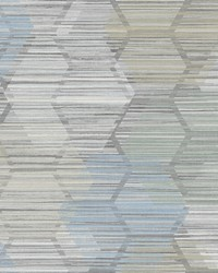 Jabari Light Blue Geometric Faux Grasscloth Wallpaper by