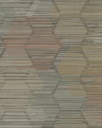 Jabari Brown Geometric Faux Grasscloth Wallpaper by