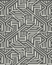 Nambiti Black Geometric Wallpaper by