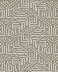 Nambiti Brown Geometric Wallpaper by