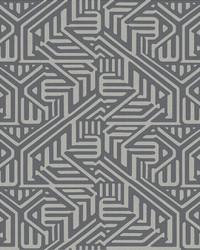 Nambiti Charcoal Geometric Wallpaper by