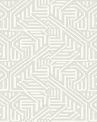Nambiti Light Grey Geometric Wallpaper by