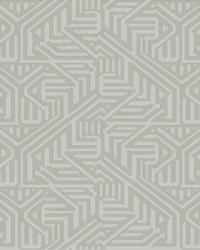 Nambiti Grey Geometric Wallpaper by