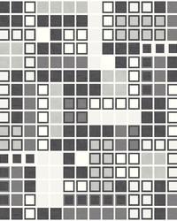 Bantry Black Geometric Wallpaper by