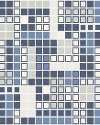 Bantry Blue Geometric Wallpaper by