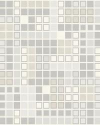 Bantry Light Grey Geometric Wallpaper by