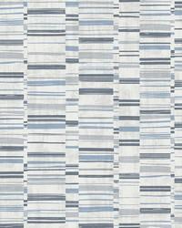 Fresnaye Blue Linen Stripe Wallpaper by