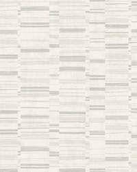 Fresnaye Light Grey Linen Stripe Wallpaper by