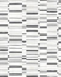 Fresnaye Black Linen Stripe Wallpaper by
