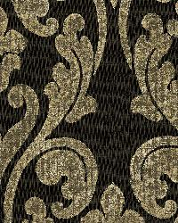 Black Damask Scroll by