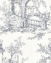 Antiquity Blue Linen Toile by