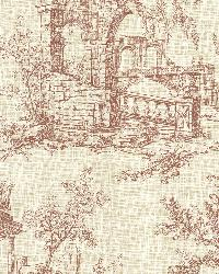 Antiquity Brick Linen Toile by