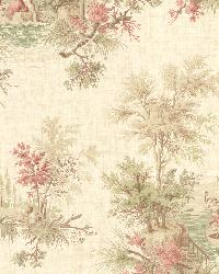 Pictorial Peach Romance Toile by