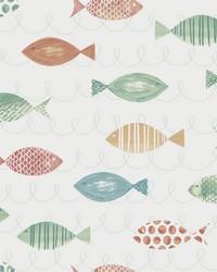 Key West Aqua Fish Wallpaper by