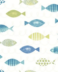 Key West Green Fish Wallpaper by