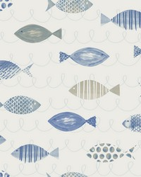 Key West Blue Fish Wallpaper by