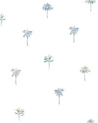 Palmetto Blue Leaves Wallpaper by