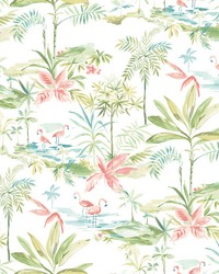 Lagoon Green Watercolor Wallpaper by  Brewster Wallcovering