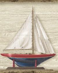 Set Sail Wheat Boat Wallpaper by