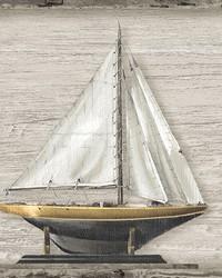 Set Sail Beige Wood Spool by