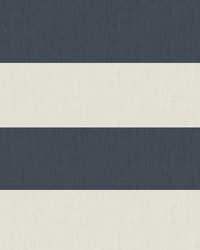 Awning Navy Stripe Wallpaper by  Brewster Wallcovering