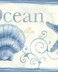 Island Bay Blue Seashells Spool by
