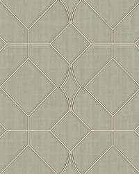 Washington Square Sage Trellis Wallpaper by