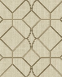 Washington Square Beige Trellis Wallpaper by