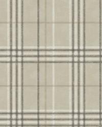 Rockefeller Beige Plaid Wallpaper by  Brewster Wallcovering